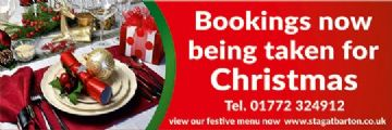Christmas Meal Bookings banner